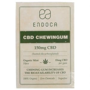 Product image of Endoca CBD chewinggum (10 pieces) - Mint